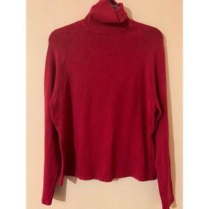 BCBGMaxazria Red Turtleneck Sweater